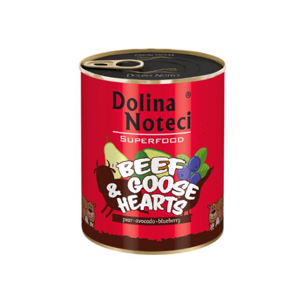 DOLINA NOTECI SUPERFOOD Wołowina i serca z gęsi 800g