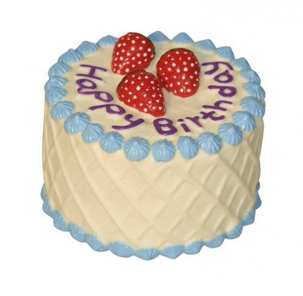 KERBL Zabawka winylowy tort, 10 cm [82310]