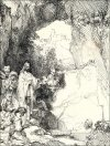 The Raising of Lazarus Small Plate, Rembrandt - plakat