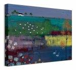Jezioro Łabędzie - obraz na płótnie