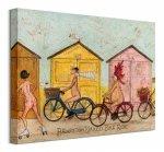 Sam Toft Brighton Naked Bike Ride - Obraz na płótnie