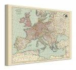 Stanfords Mapa Europy 1928 - obraz na płótnie