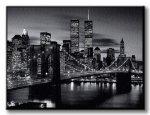 Brooklyn Bridge - B&W - Obraz na płótnie