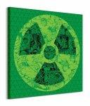 Marvel (Hulk Atomic Collage) - Obraz na płótnie