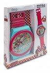 Zegar ścieny Myszka Mini Minnie jak zegarek ręczny XXL dla wielkoluda