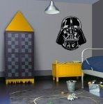 Duża naklejka Star Wars Darth Vader twarz - naklejki
