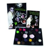Zestaw farb do malowania twarzy z książką krok po kroku Eulenspiegel straszne wzory