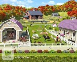 Tapeta 3D Bajeczna kraina koni