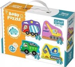 Trefl Baby Classic 36072 Grube Puzzle Pojazdy budowlane 18 elementów