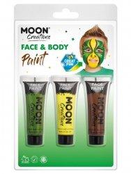 Zestaw farb do twarzy i ciała 3szt green