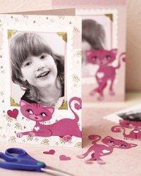 Naklejki różowe kotki