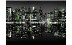 Fototapeta Miasto Nocą Nowy Jork green