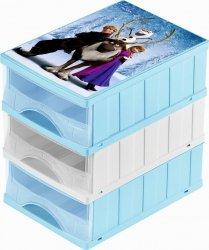 Pojemnik z szufladami Frozen Kraina Lodu organizer