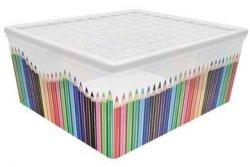 Pojemnik pudełko na zabawki Kolorowe Kredki