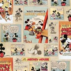 Tapeta Komiks Myszka Miki i Mini Vintage