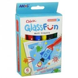 Kredki do malowania po szkle Fun Glass