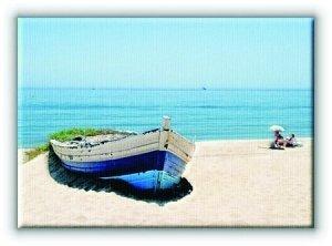 Stara zapomniana łódź - Obraz na płótnie