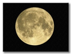 Złoty Księżyc - Obraz na płótnie