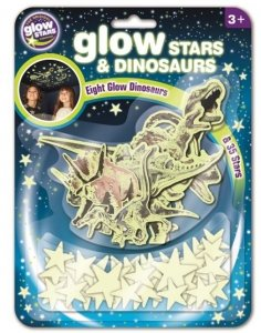 Naklejki Gwiazdki oraz Dinozaury GLOW