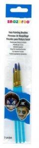SNAZAROO pędzelki - zestaw 3 pędzli blue