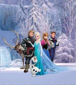 Fototapeta Kraina Lodu 180x202cm Disney Frozen