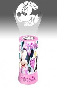 Lampka nocna z projektorem Disney Myszka Mini biurkowa Minnie Mouse