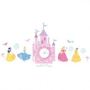 Zegar naklejka Princess Księżniczki Pałac
