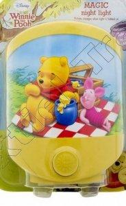 Magiczna lampka Disney Pooh Kubuś Puchatek i Prosiaczek na kocyku