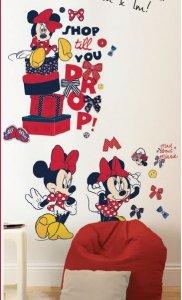 Naklejki Disney Myszka Mini Minnie Mouse duża naklejka