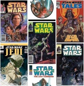 Tapeta Star Wars Gwiezdne Wojny okładki komiksów