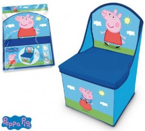 Fotel Pudełko pojemnik na zabawki Świnka Peppa Pig