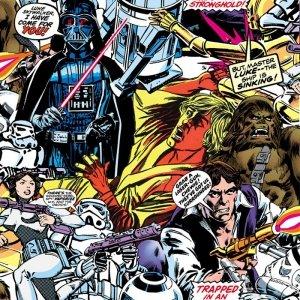 Tapeta Star Wars Gwiezdne Wojny komiks