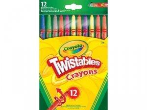 Kredki Twistables 12szt świecowe
