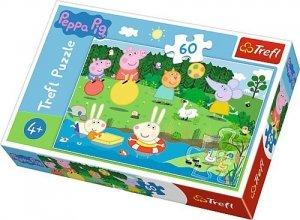 PUZZLE 60 EL ŚWINKA PEPPA Pig Wakacyjna zabawa Trefl 17326