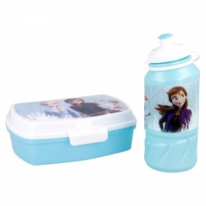 Zestaw Bidon Śniadaniówka Lunch Box Kraina Lodu Disney Frozen
