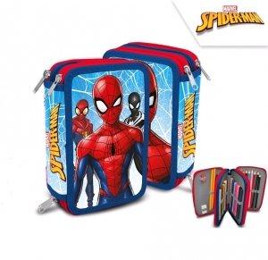 Piórnik potrójny z wyposażeniem SpiderMan