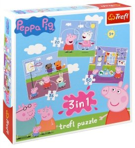 Puzzle ŚWINKA PEPPA 34813 3w1