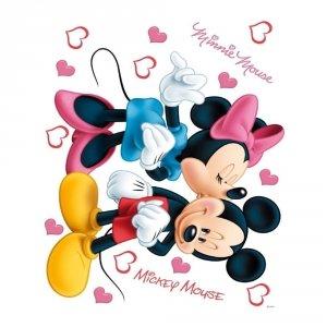 Naklejki Duża Naklejka Myszka Mini Love Miki i Minnie
