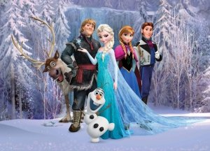 Fototapeta Kraina Lodu 160x110cm Disney Frozen