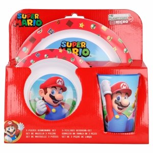 Zestaw naczyń obiadowy  Super Mario Bros new
