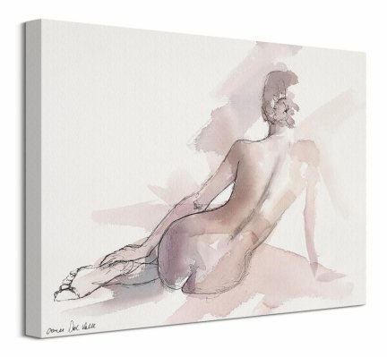 Kobiecy szkic - obraz na płótnie