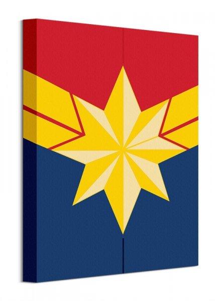 Kapitan Marvel Logo - obraz na płótnie
