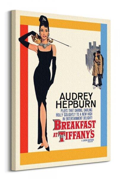 Audrey Hepburn Breakfast at Tiffany's - obraz na płótnie