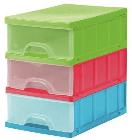 Pojemnik z szufladami Trzy Kolory organizer