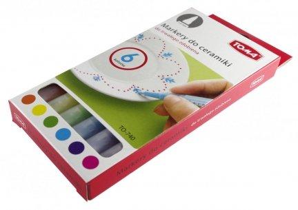 Markery Mazaki do ceramiki Toma 6 kolorów