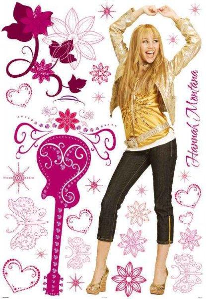 Duża naklejki HANNAH MONTANA Miley Cyrus