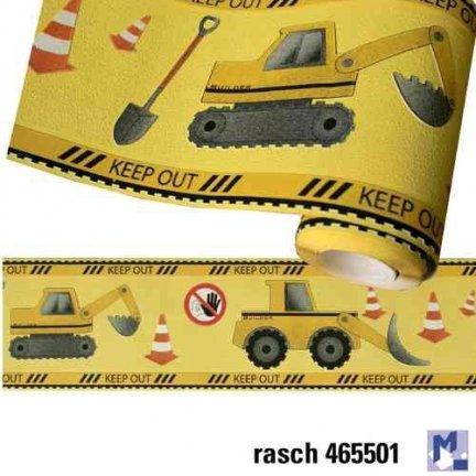 Pasek dekoracyjny Koparki bord Maszyny Budowlane 465501 KIDS & TEENS Rasch