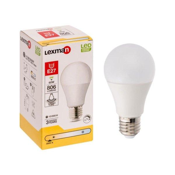 Żarówka LED E27 9W - 60W 806LM 3000k