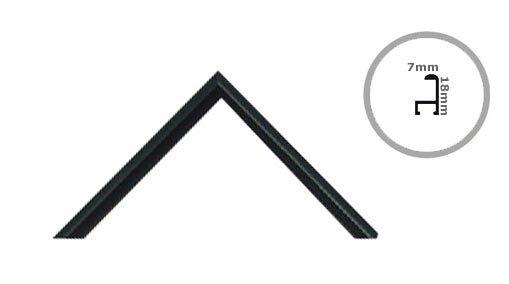 Rama 40x40 cm czarna aluminium