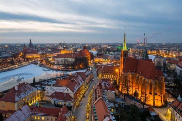 Wrocław, Polska -plakat premium